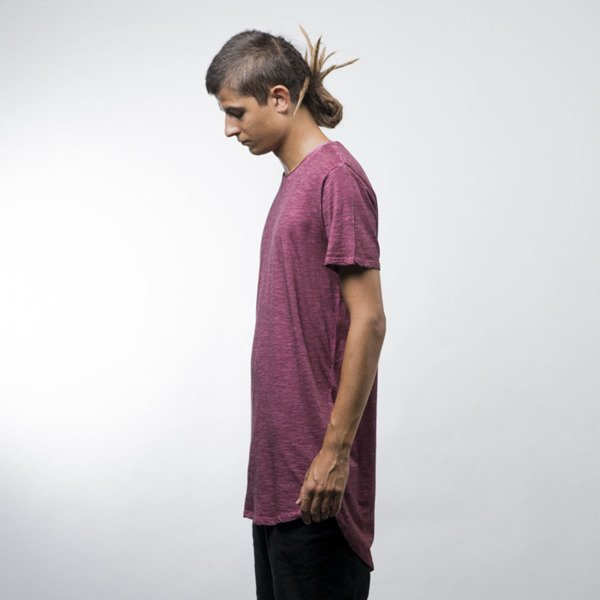 Urban Classics koszulka Long Back Shaped Spray Dye Tee burgundy (TB1231)
