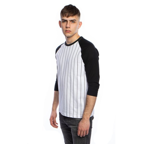 Urban Classics koszulka Long Shaped Flanell Bottom Tee black / black-red (TB1098)