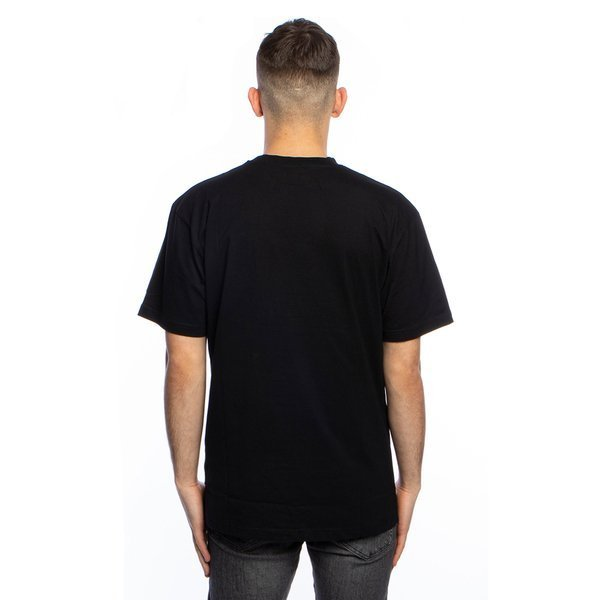 Urban Classics koszulka Long Shaped Flanell Bottom Tee black / black-white (TB1098)
