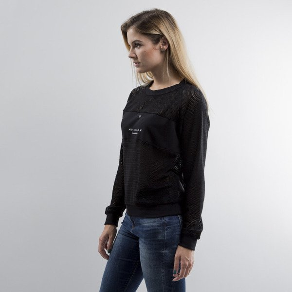 We Peace It bluza Mesh Crewneck black