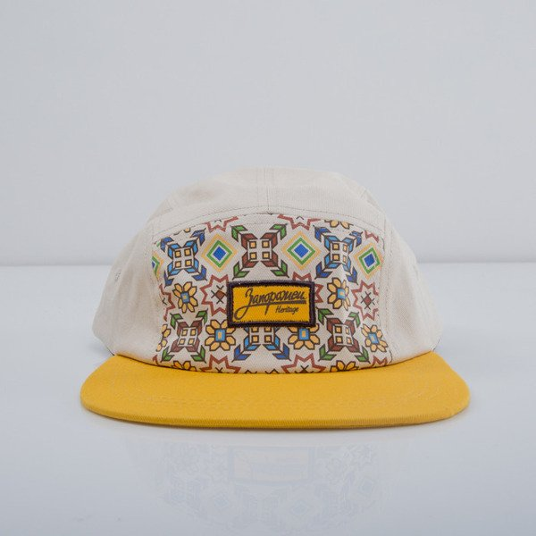 Zaporożec czapka 5panel Carpatians yellow