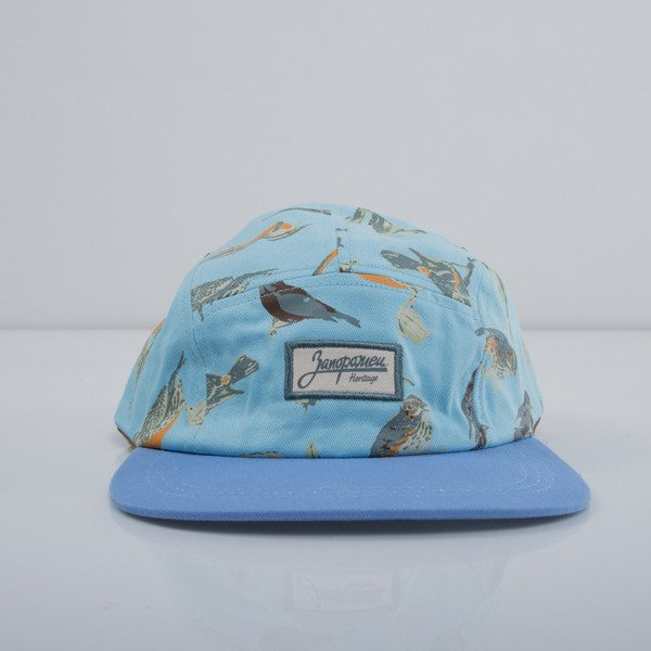 Zaporożec czapka 5panel Ptichki blue birds