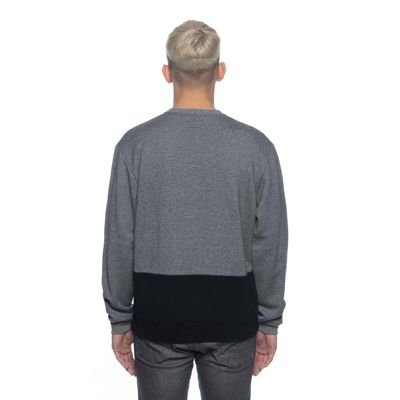 Backyard Cartel bluza Cut Crew dark heather grey