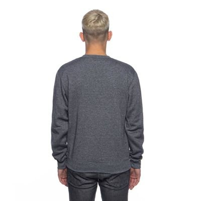 Backyard Cartel bluza sweatshirt Inset crewneck dark grey heather
