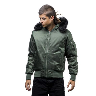 Urban Classics kurtka Hooded Basic Bomber Jacket olive (TB1456)