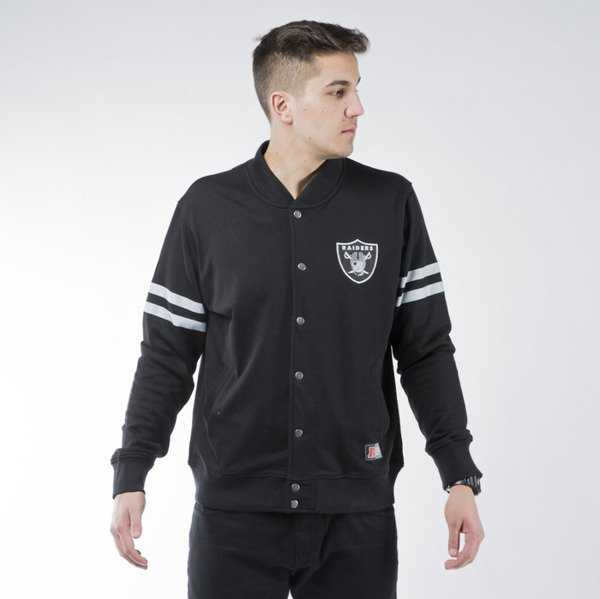 ... Majestic Athletic Roper Fleece Letterman Jacket Oakland Raiders black  (MOR1428DB) ... 9ddb5fa17