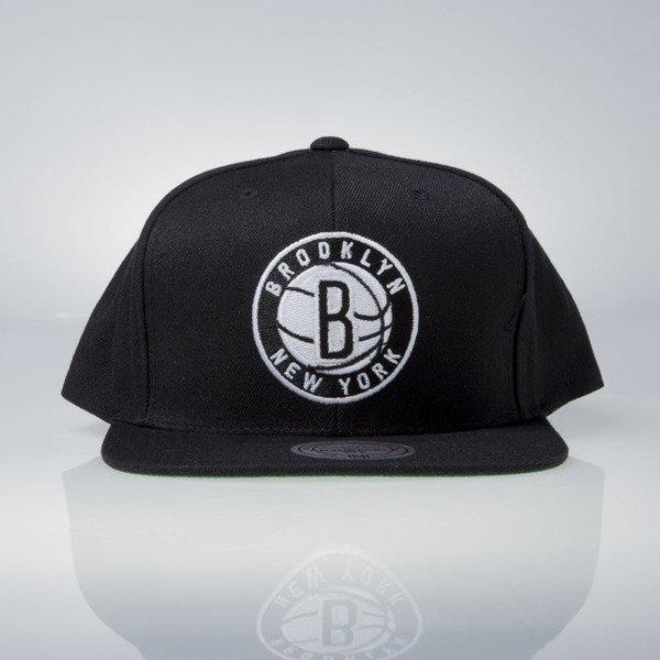 e6ecbbf514c ... Mitchell   Ness cap snapback Brooklyn Nets black Wool Solid   Solid 2  NL99Z ...