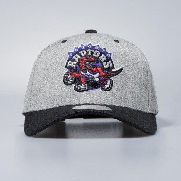 various colors 92e51 9ebb6 Cap Mitchell   Ness snapback Toronto Raptors grey   black Team Logo 2-Tone    Bludshop.com