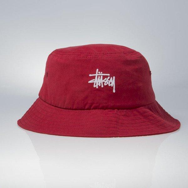 d0d1587d615 ... Stussy bucket hat Classic Logo red ...