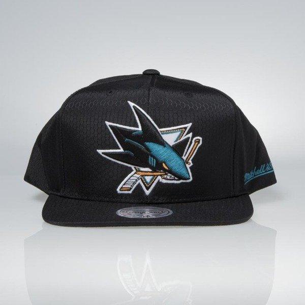 info for 62259 c64a0 Cap Mitchell   Ness snapback San Jose Sharks black Black Ripstop Honeycomb    Bludshop.com