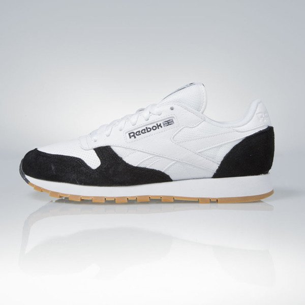 Sneakers buty Reebok Classic Leather SPP Perfect Split Kendrick Lamar white black gum (AR1894)