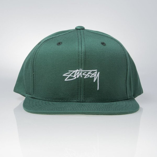 410a8657722 Stussy snapback cap Smooth Stock Enzyme green