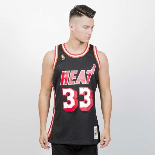 official photos 45b76 3c601 Mitchell & Ness Miami Heat #33 Alonzo Mourning black Swingman Jersey