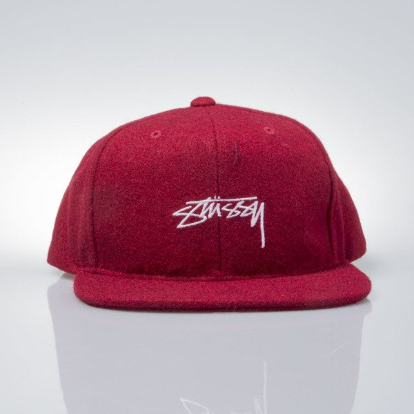 ... Stussy snapback Smooth Stock Melton Wool Cap red ... 9af0d19268a