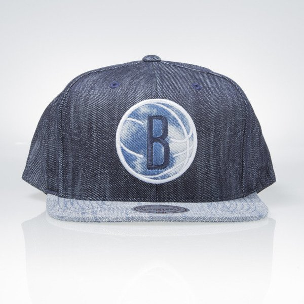 Mitchell   Ness cap snapback Brooklyn Nets blue Blue Linen VR14Z ... d02ec774b19