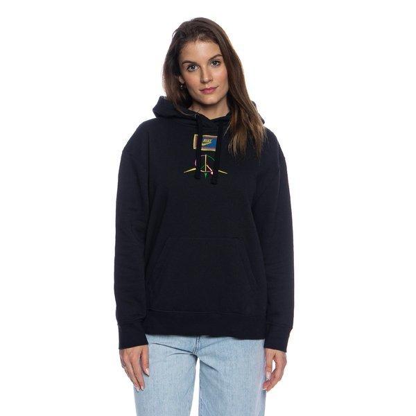 Bluza damska Nike NSW Peace Pack Hoodie FLC BB czarna