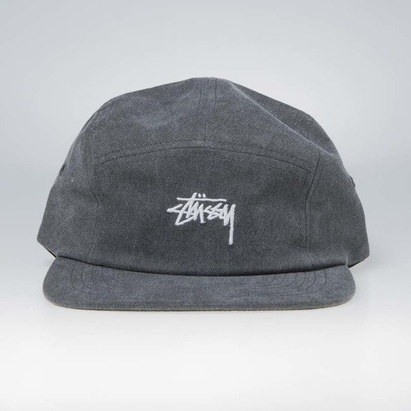 Stussy 5panel Washed Oxford Canvas Camp Cap black  4739f92130c
