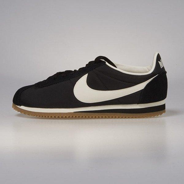 new products 7caca 1d443 Nike Classic Cortez Nylon Premium black   sail - gum light brown 876873-002    Bludshop.com