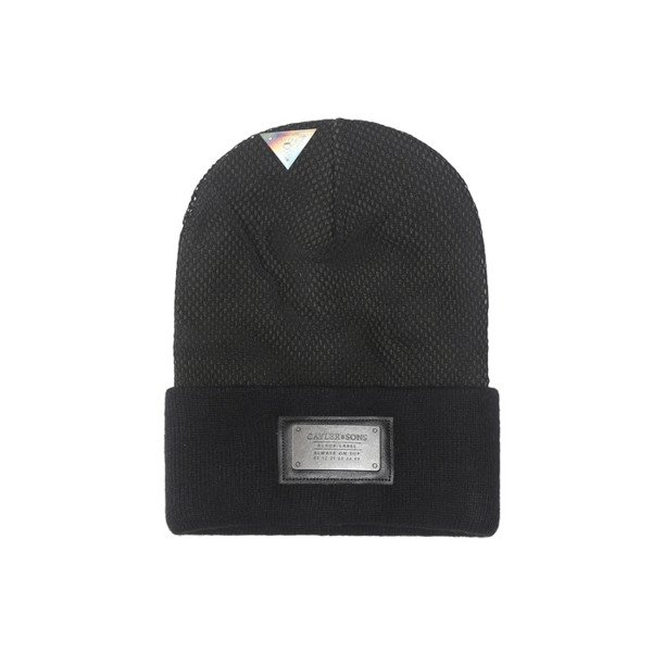 3064e7b5137 Cayler   Sons BLACK LABEL Plated Old School Beanie black   olive  BL-CAY-AW16-BN-04