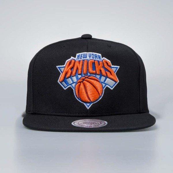 6e80287336b ... Cap Mitchell   Ness snapback New York Knicks black Wool Solid ...
