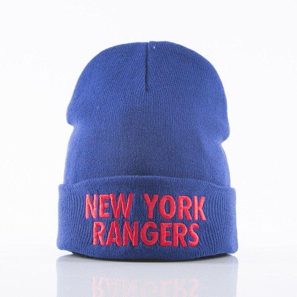 2a64efe1c16 Mitchell   Ness beanie New York Rangers royal Headline EU253 ...