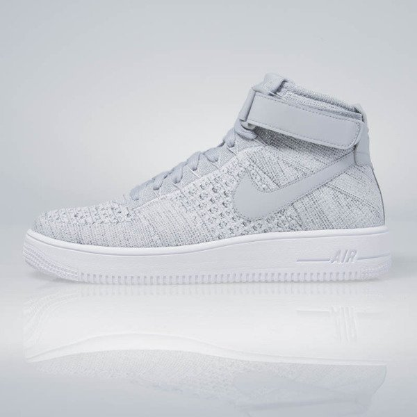 release date: 44e5c d4835 Nike Air Force 1 Ultra Flyknit Mid wolf grey / wolf grey-white 817420-003