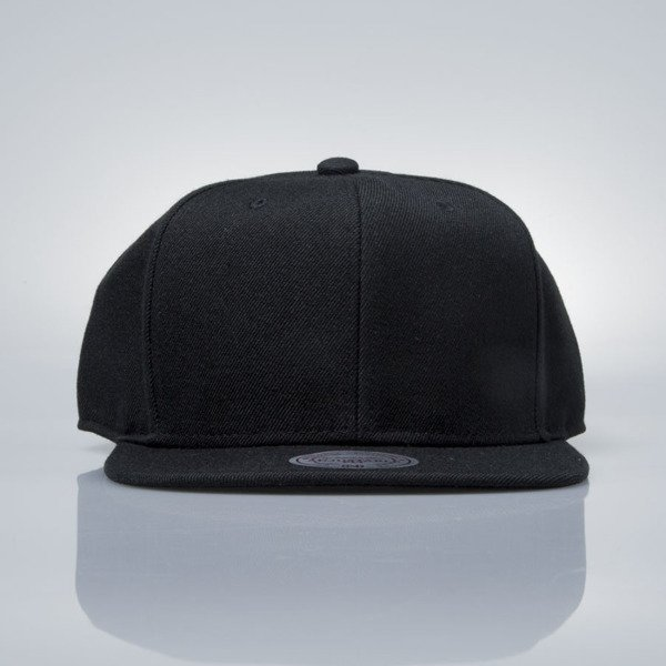 4d67716583e71 Mitchell   Ness snapback cap M N black EU930 SOLID COLOUR BLANK ...