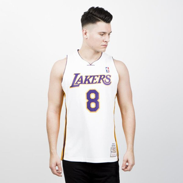huge discount 3ad21 c9b3e Jersey Mitchell & Ness Los Angeles Lakers #8 Kobe Bryant white Authentic  Jersey