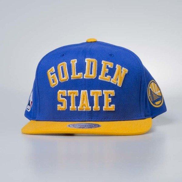 Cap Mitchell   Ness snapback Golden State Warriors blue Wordmark Jersey  Hook  9f1c56e3fff