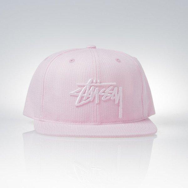 Stussy snapback cap Stock Seersucker light pink 0717768958d