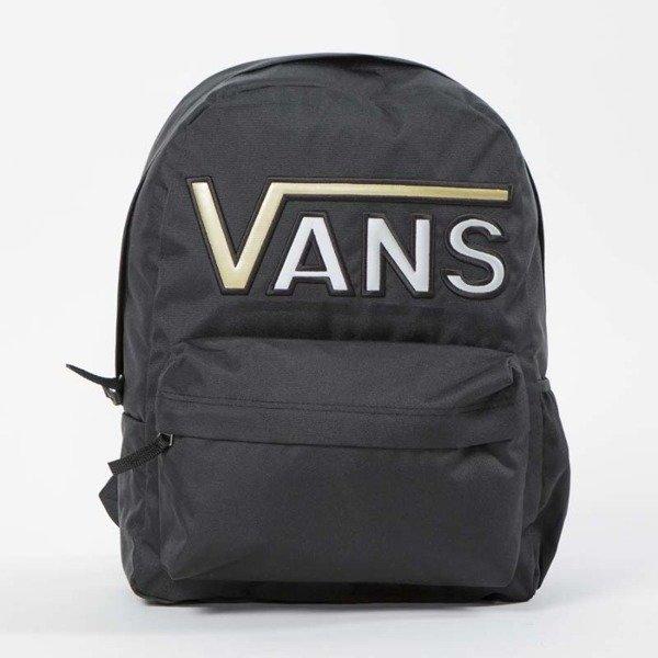 fe1225f9bd Vans Realm Flying V Backpack black   gold VN0A34GHB5T