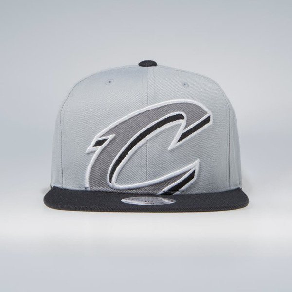cheap for discount e82a5 609a0 ... new style mitchell ness cleveland cavaliers snapback cap grey nba  cropped xl snapback b745a 16345