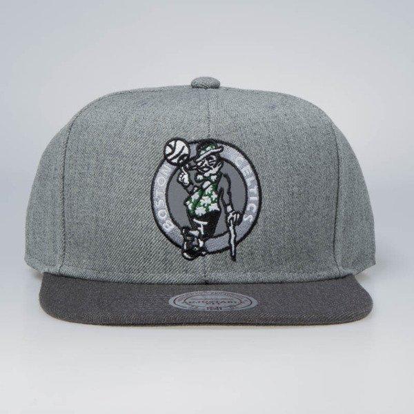 457555a2922 Mitchell   Ness snapback Boston Celtics grey   charcoal Heather Reflective