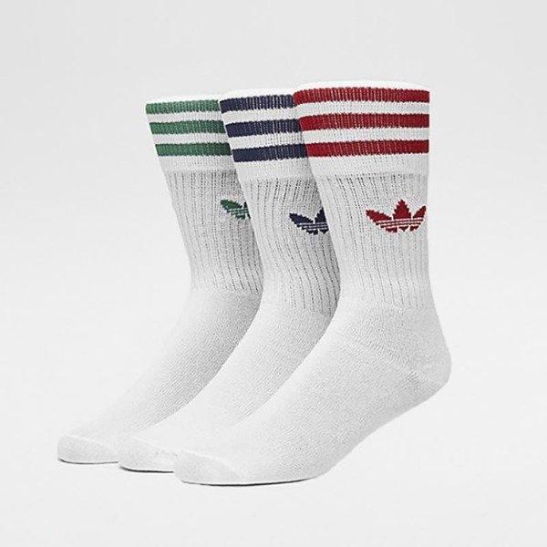 Skarpety Długie Adidas Originals Solid Crew Socks White