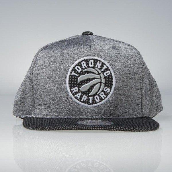 6c684a4b8d9 Mitchell & Ness snapback Toronto Raptors black Space Knit PU Visor |  Bludshop.com