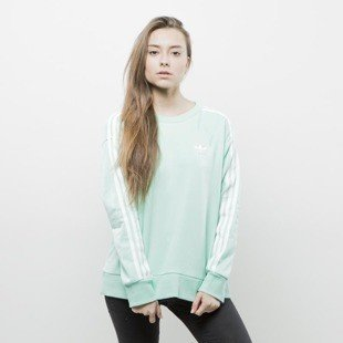 Adidas Originals sweatshirt 3 Stripes A-Line easy green (BJ8204)