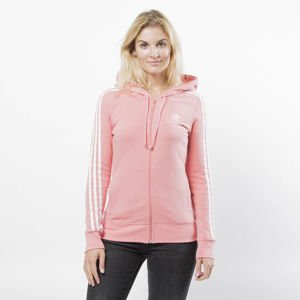 Adidas Originals women 3 Stripes Zip Hoodie tactile rose (DN8150)