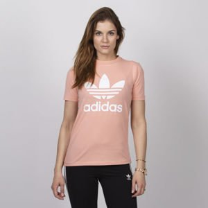 Adidas Originals women t-shirt Trefoil Tee dust pink