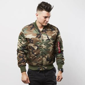 Alpha Industries Bomber Jacket MA-1 TT woodland camo