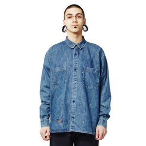 Backyard Cartel Acid Shirt acid wash denim
