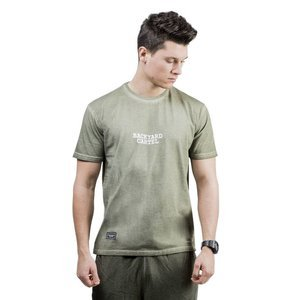 Backyard Cartel Back 2 Back T-Shirt washed khaki QUICKSTRIKE