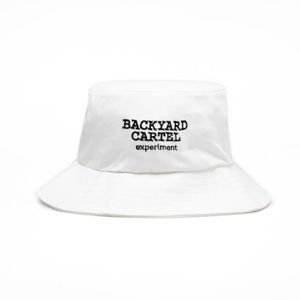 Backyard Cartel Bucket Hat Experiment white