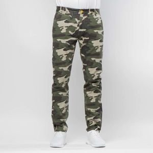 Backyard Cartel Chinos Pants Label tapered fit woodland camo