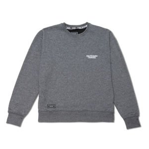 Backyard Cartel Crewneck Back Label dark heather grey FW2017