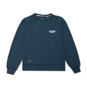 Backyard Cartel Crewneck Back Label navy FW2017