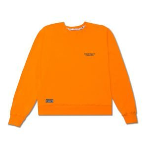 Backyard Cartel Crewneck Back Label orange FW2017