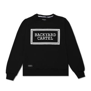 Backyard Cartel Crewneck Label Logo black