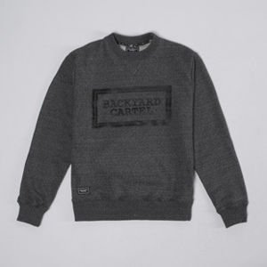 Backyard Cartel Crewneck Label Logo grey heather