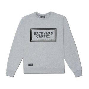 Backyard Cartel Crewneck Label Logo light heather grey