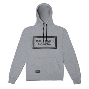 Backyard Cartel Hoody Label Logo light heather grey